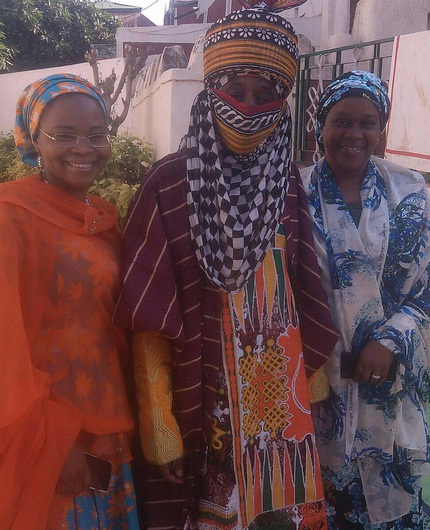 Emir of Kano poses with his wives and daughters in new photos
