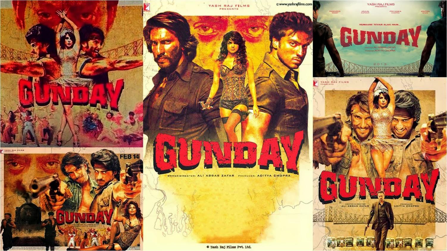 Official posters of Gunday movie: Arjun Kapoor, Ranveer Singh and Priyanka Chopra