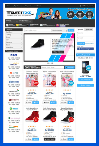 Template toko online responsif