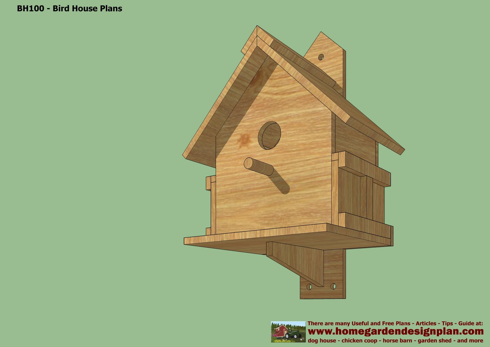 Bh100 1 1 bird house plans free free bird house for Small bird house plans