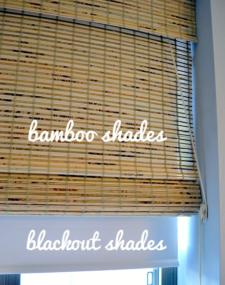Bamboo shades and blackout shades