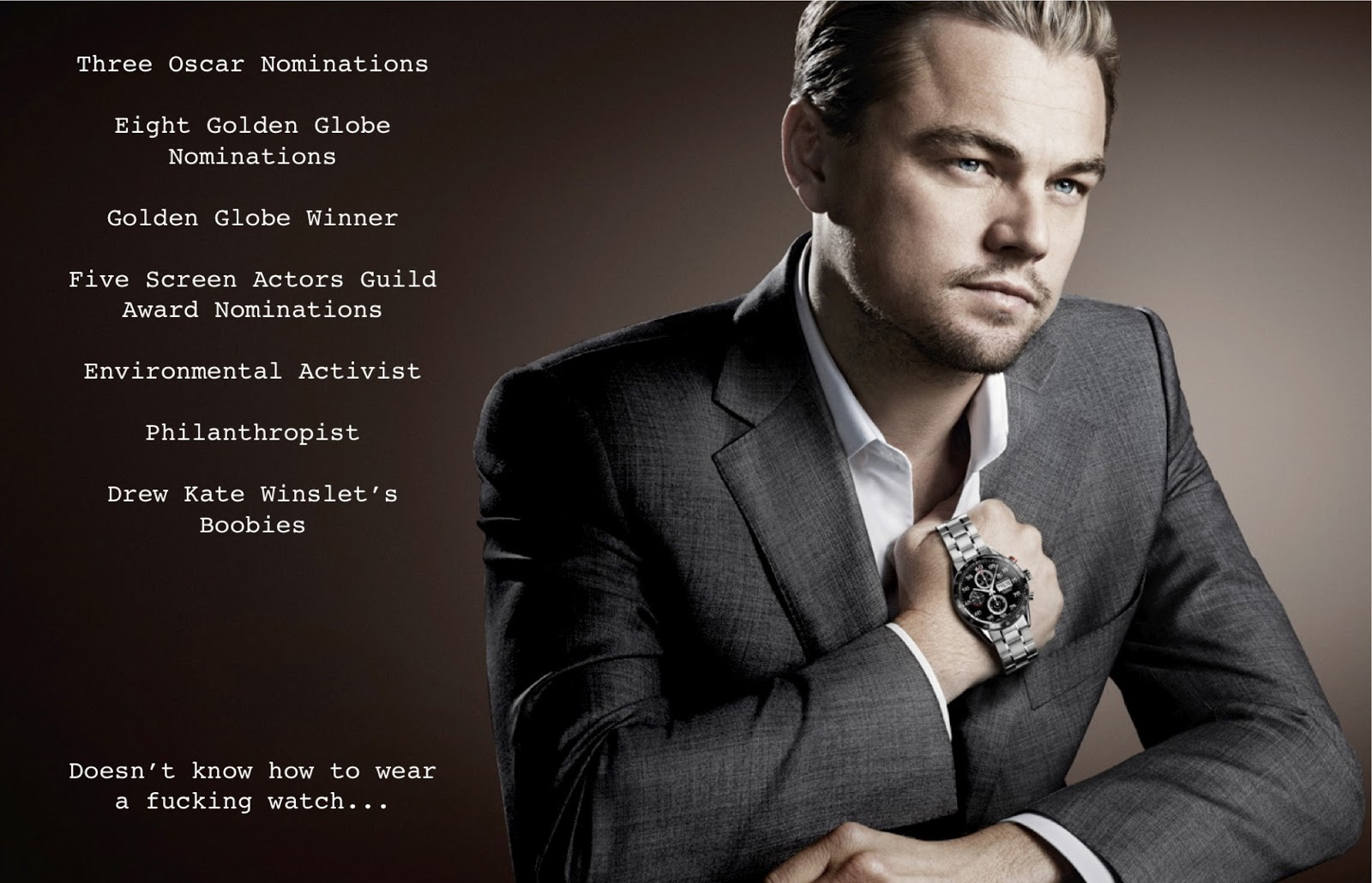 Wall Street Quotes Rich Wisken Writes Leonardo Dicaprio Wears A Watch  Sort Of