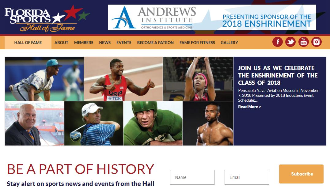 Florida Sports Hall of Fame Website