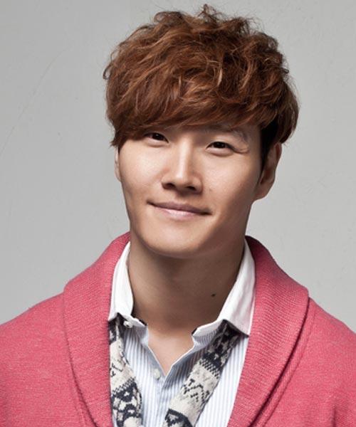 Kim Jong Kook curly hairstyle brown color