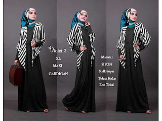 Dress Lebaran Maxi Chic Dress Dengan Bolero