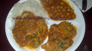 Indian food, rice, chana, gravy