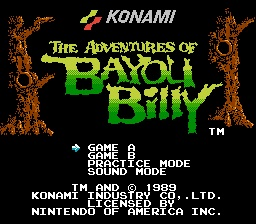 Bayou Billy Title Screen