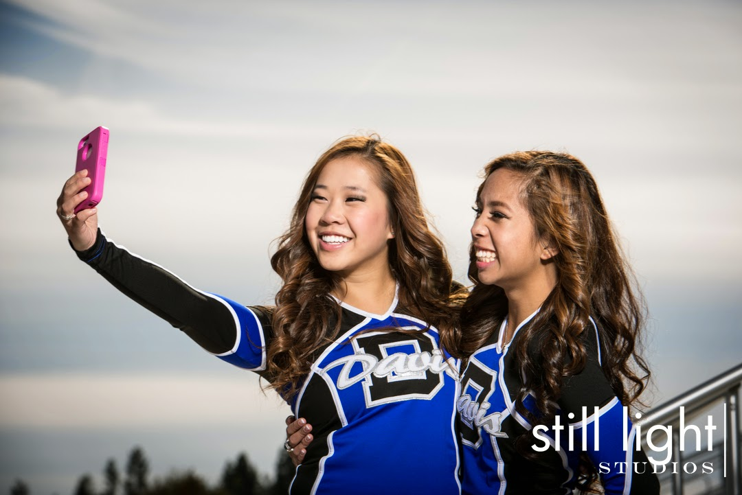 San Francisco Davis High School Cheer Team Photo by Still Light Studios, School Sports Photography and Senior Portrait in Bay Area, cinematic, nature