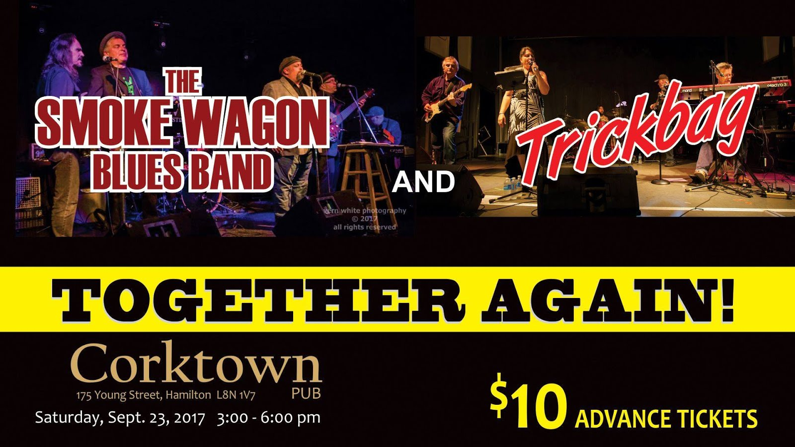 Trickbag + Smoke Wagon Blues Band Rock the The Corktown