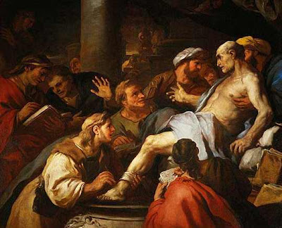 'Sorry, fellas: Nero has forwarded me one fucking conspiracy theory too many!' - La mort de Sénèque, by Luca Giordano (1884), via Wikimedia Commons - public domain