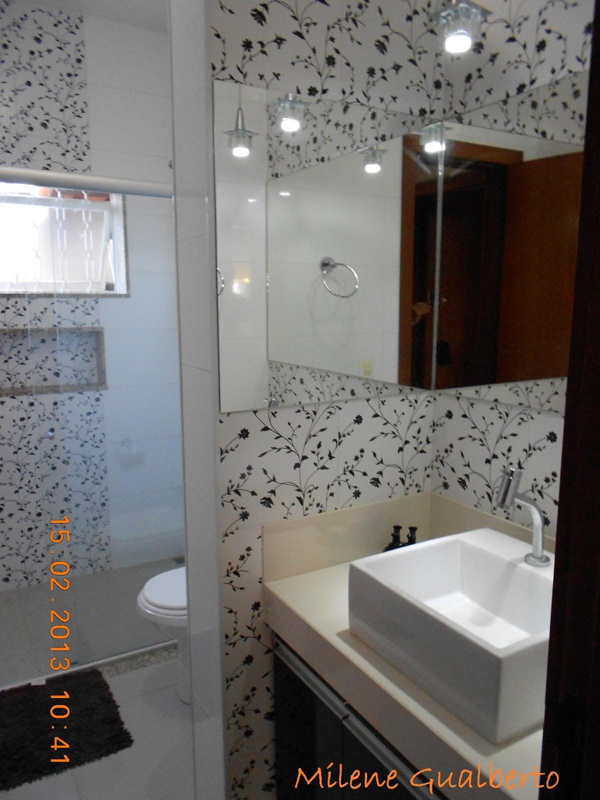 Bancada de porcelanato polido: Arte Pedras #A75C24 1200x1600 Banheiro Branco Preto E Cinza