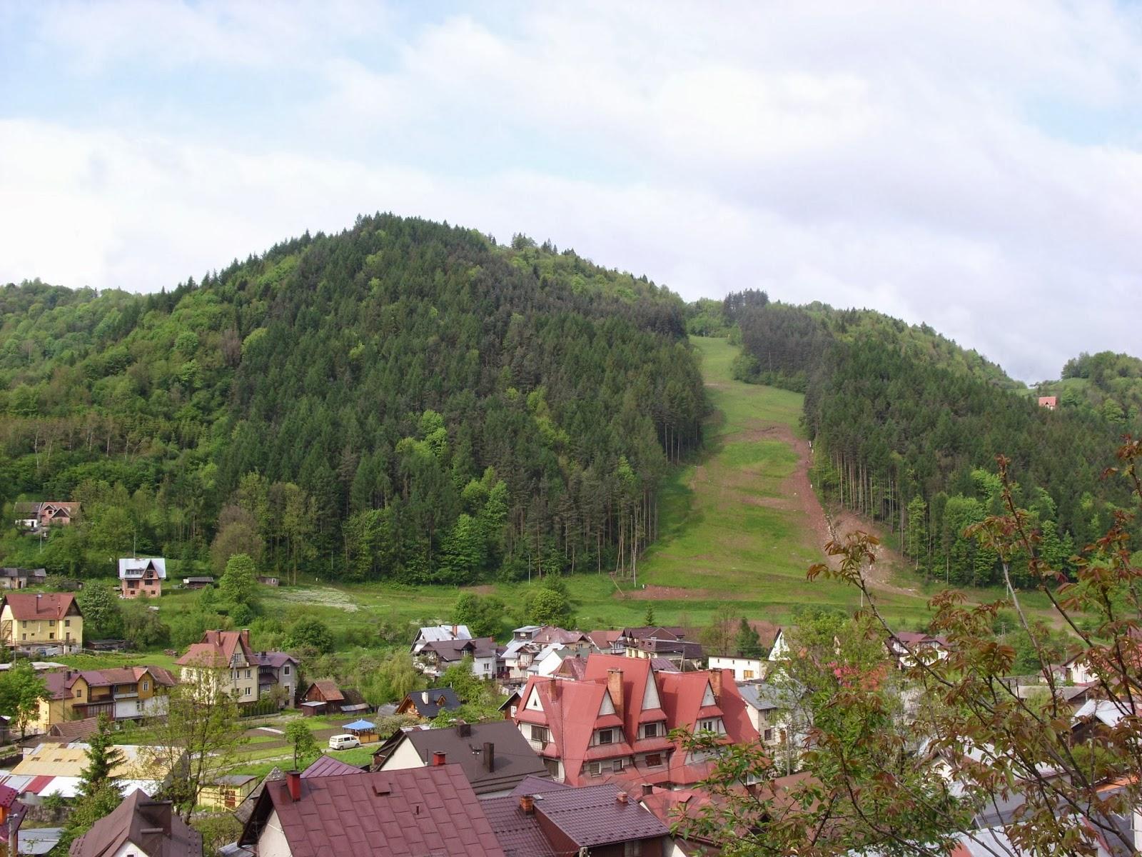 Szczawnica trasa narciarska jesienią