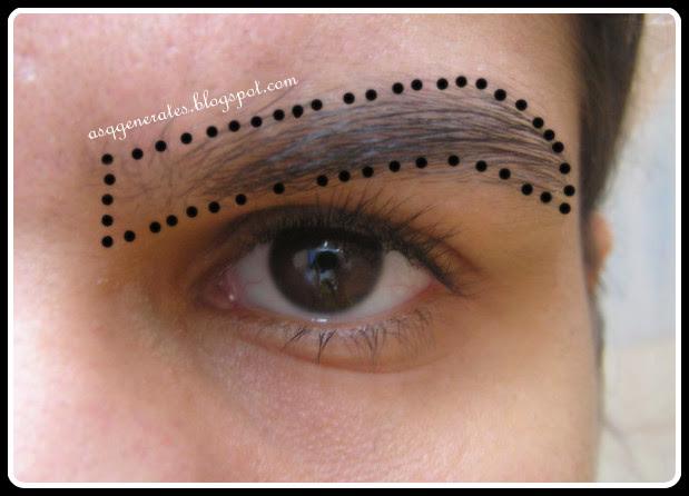 Groomed eyebrows step 2