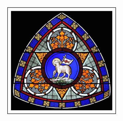 View from the valley stained glass history and symbols for Naugatuck glass company