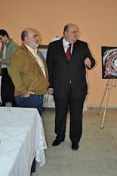 O presidente da Associação Claudionor, e o leiloeiro Nelson bernardo
