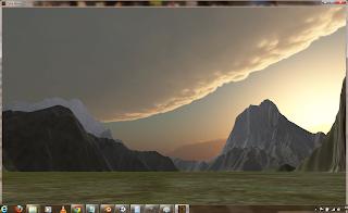 Screenshot of the Cyka development demo (Cyka demo 01a)