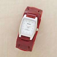 55675 C RED - Deri Bileklik ve Deri Kordonlu Saat Modelleri