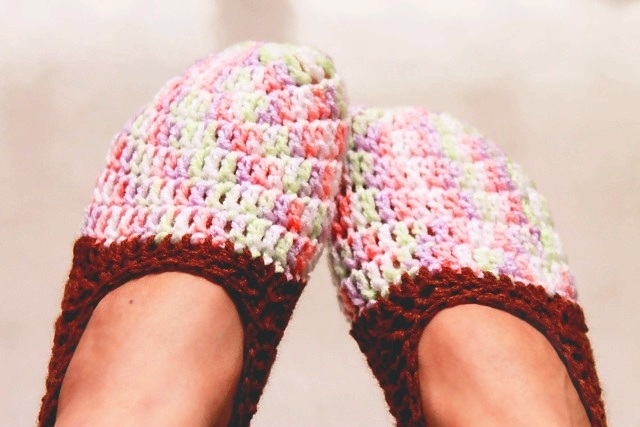 crochet slippers - nephithyrion
