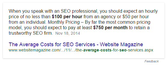 SEO Pricing