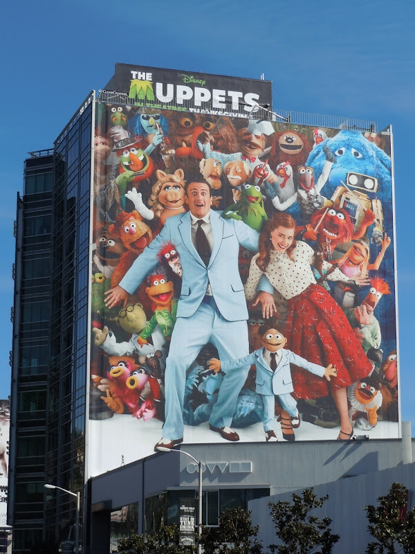 Giant Muppets movie billboard
