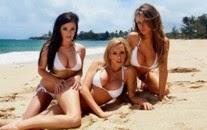 Bikini babes in white bikini