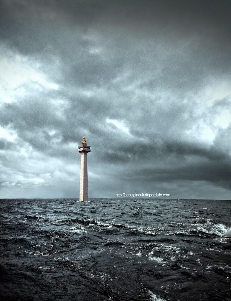 RAMALAN BANJIR JAKARTA 2014 BPPT Prediksi DKI Jakarta Tenggelam Hujan Deras Cuaca Ekstrem