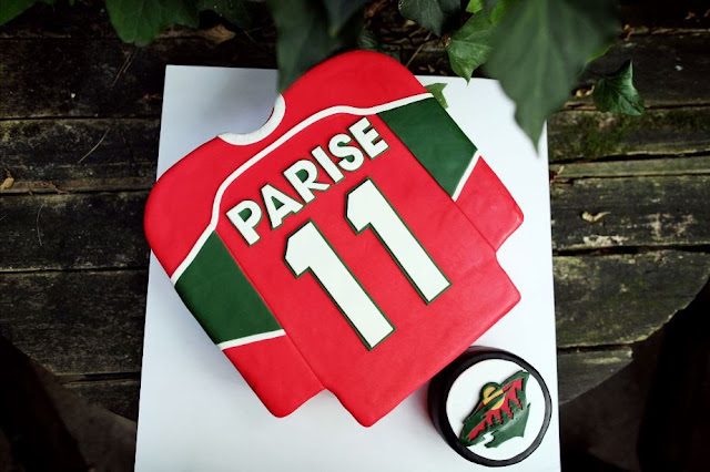 Hockey Jersey Groom's Cake Minnesota Wild