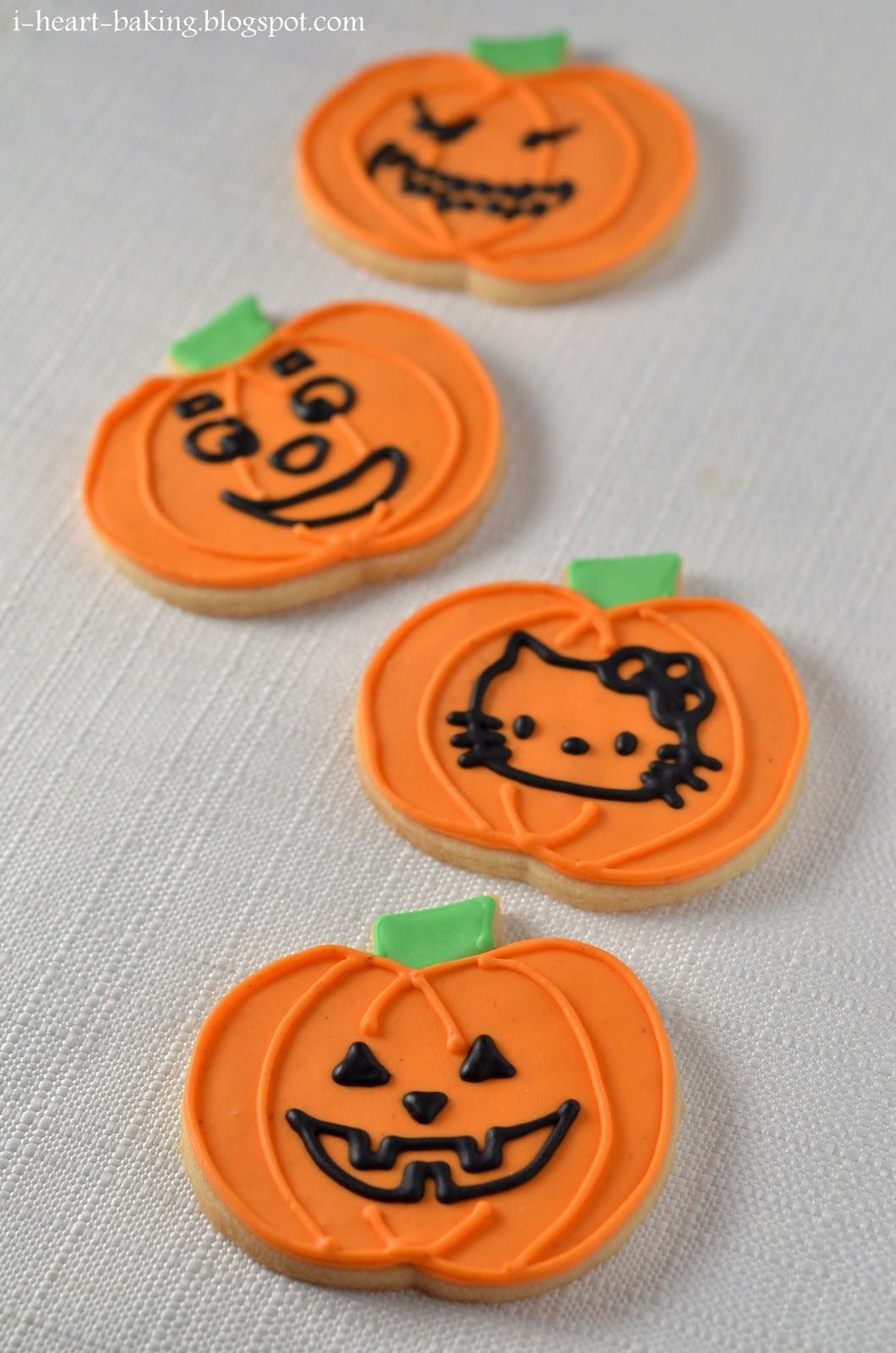 ... baking!: halloween cookies - jack-o-lantern pumpkin spice cookies