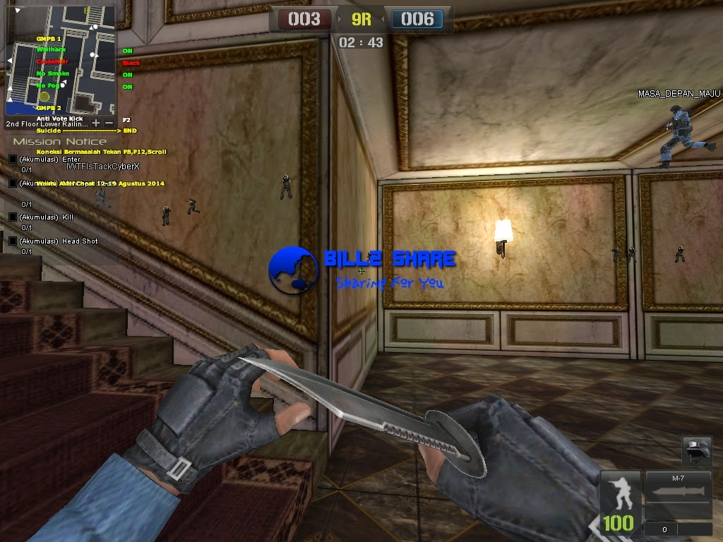 Cheat Point Blank Wallhack + Crosshair + No Smoke + No Fog 29 Agustus 2014