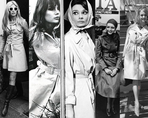 5 Fabulous Trench Coats Inspired by 60s Vixens