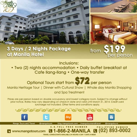 Mango Tours Manila Hotel Package