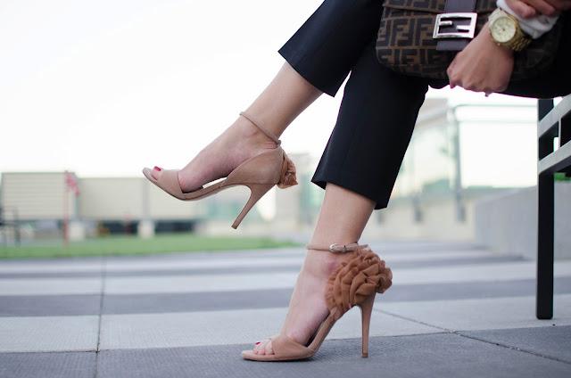 Spring fashion, spring collars, J.Crew, Gap, Fendi baguette, single strap sandal