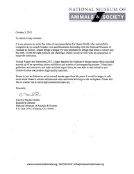 NMAS | Letter of Recommendation | August - September 2011