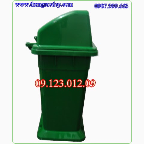thùng rác nhựa nắp hở
