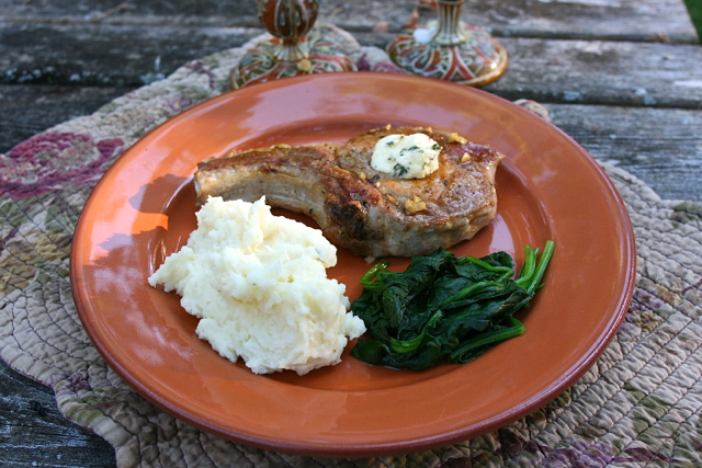 Pork Chop with Herb Butter: Simple Living and Eating