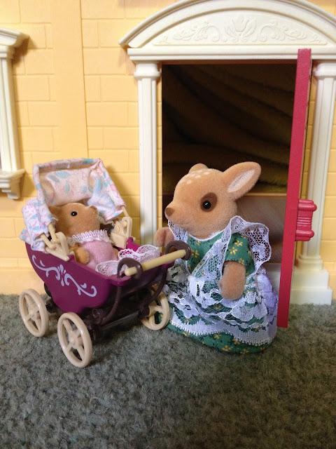 Sylvanian Families Moss Reindeer Baby Pram
