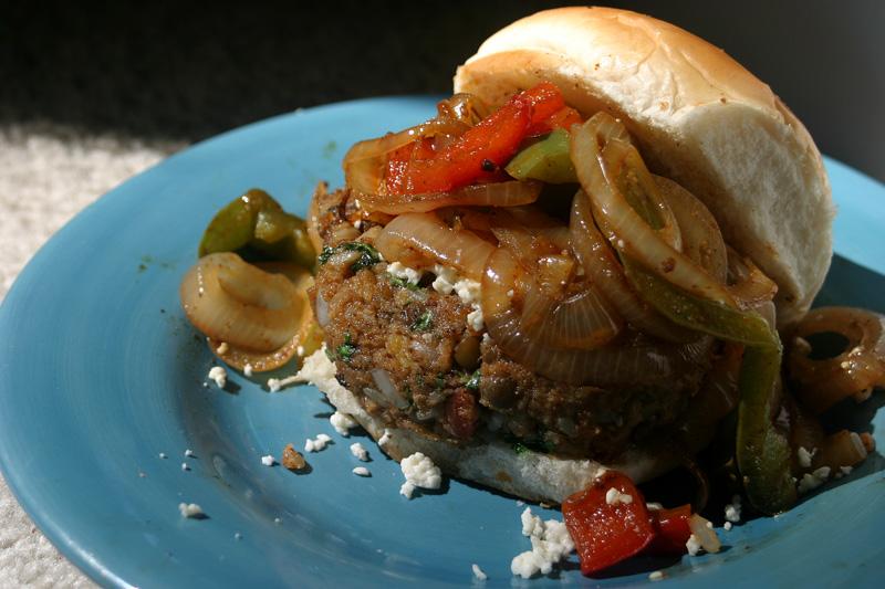 Fajita Burgers {Vegan}