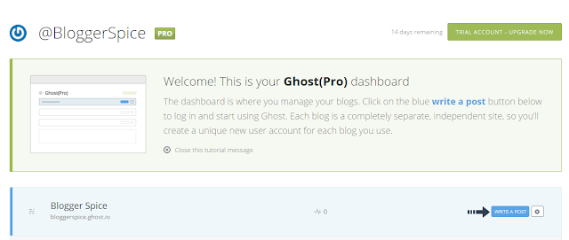 write post on ghost