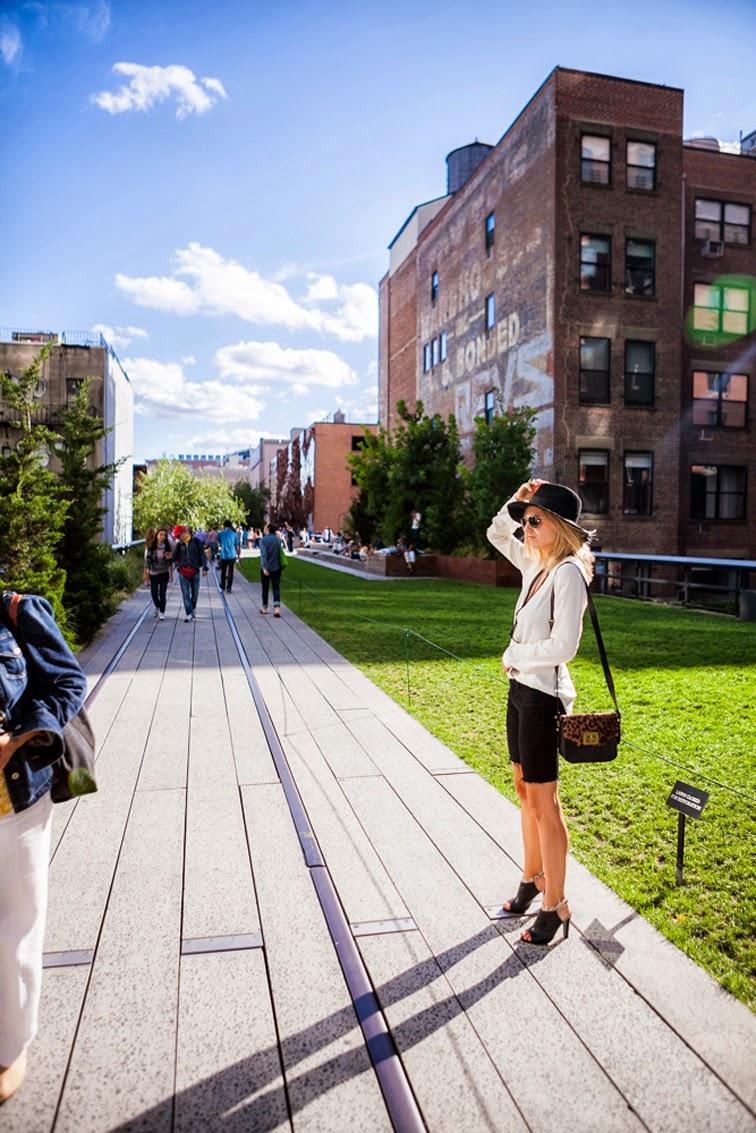Highline NYC Emm Kuo leopard print crossbody bag wide brim hat