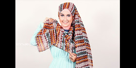 tutorial hijab pashmina tribal