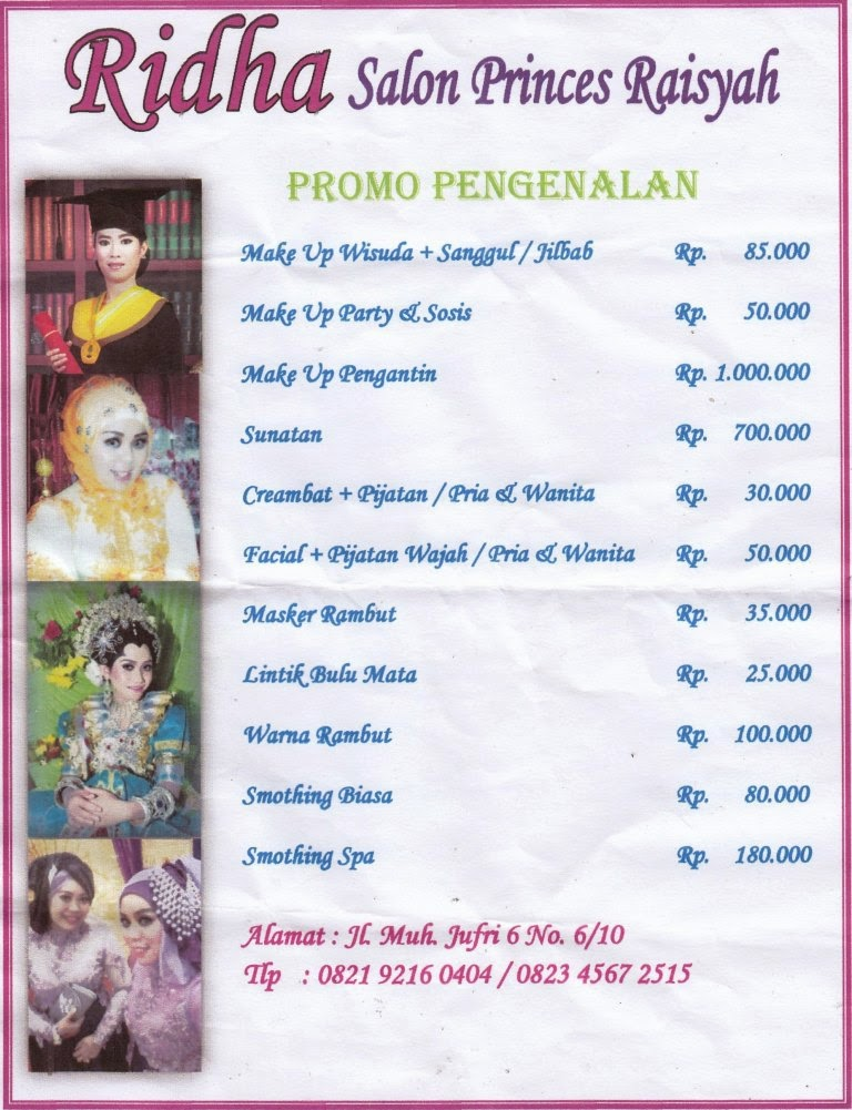 Promosi Ridha Salon Princes