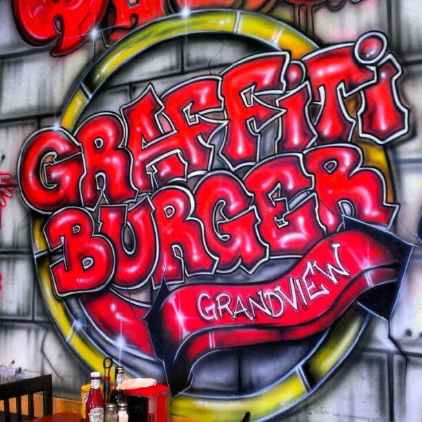 graffiti wall graffiti burger