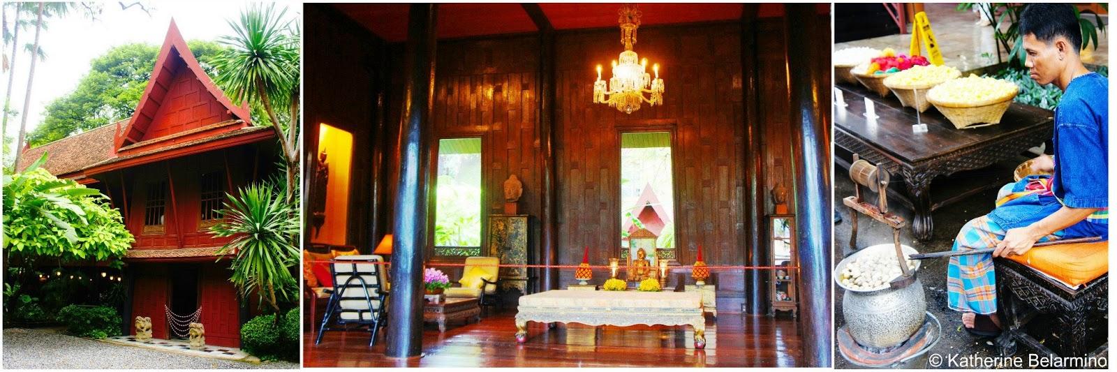 Bangkok s wat saket the golden mount and jim thompson for Thai silk jim thompson