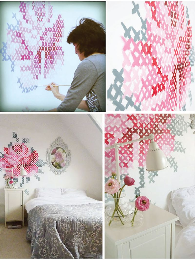 A matter of style diy fashion needlepoint 2 0 the new - Papel de pared para pintar ...