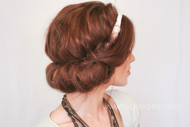 The Freckled Fox Festival Hair Week Easy Headscarf Roll