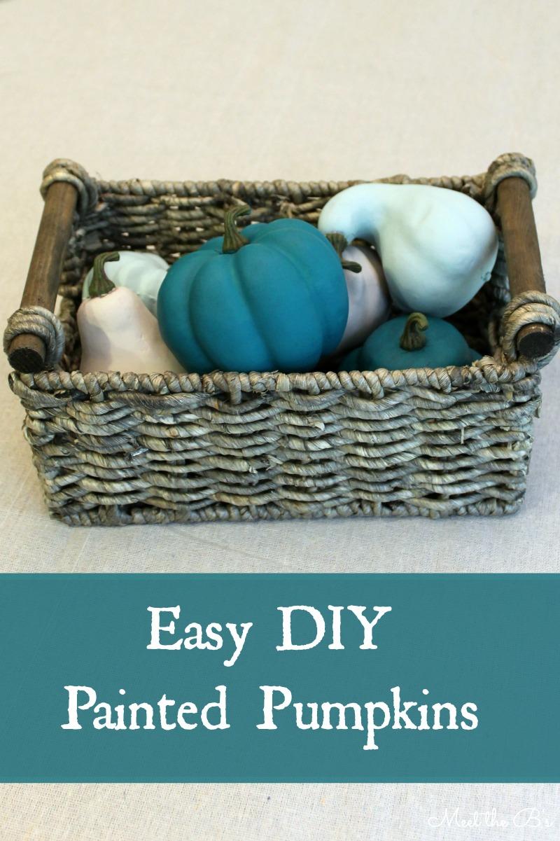Easy DIY painted pumpkins | Meet the B's