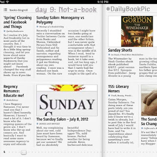 #DailyBookPic Day 9: Not a book (my iPad feed-reader app, Early Edition 2)