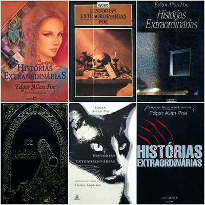 capas edições de Histórias Extraordinárias