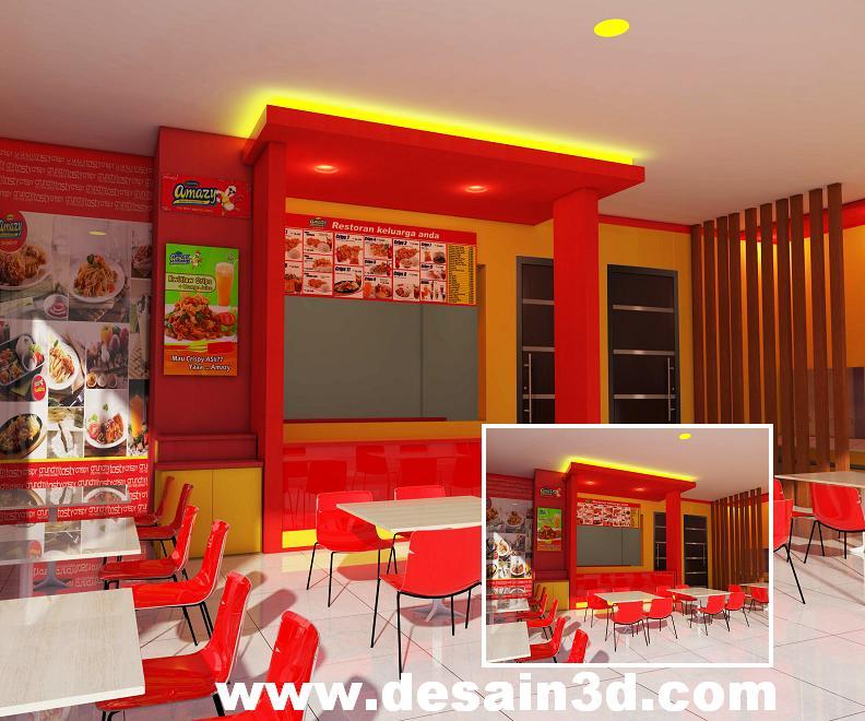 Jasa gambar desain 2d 3d murah berpengalaman desain foodcourt interior cafe dan resto modern - Gambar interior design ...