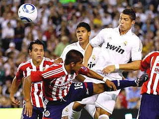 Cristiano scored a hat-trick against Chivas in San Diego